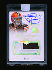 JOHNNY MANZIEL 2014 PANINI FLAWLESS GOLD HOLO PATCH AUTO JERSEY NUMBERED # 2 10