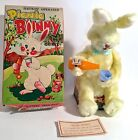 Vintage Yellow ALPS Japan Picnic Bunny Battery Operated Tin Toy in Original Box
