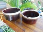 ~Vintage McCoy~Rare~Brown Drip~Nesting Straight Walled Serving Bowls~0143