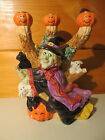 Halloween Witch Candelabra ~ Omnibus by Fitz & Floyd Rare Candle Holder ~Used