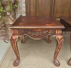 PAIR LOUIS XV ROCOCO FRENCH TABLES NIGHSTANDS CARVED INLAY WOOD DISTRESSED