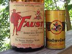 RARE 1935 FAUST IRTP HALF GALLON PICNIC BEER BOTTLE ANHEUSER BUSCH ST LOUIS MO
