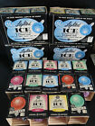 38 Vintage GE Lighted Ice Christmas Frosted SnowBall Lights Lites Pastel Bulbs