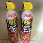 Fire Extinguisher 16-oz Can 2-Pack Fire Gone Stop Fast Classes A B C Bio-degrade