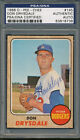 1968 OPC O-Pee-Chee #145 Don Drysdale PSA DNA Certified Authentic Auto *8738