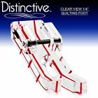 Distinctive Clear View 1 4 Quilting Sewing Machine Foot w Free Shipping