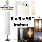 46 Inch Floor Lamp Brass Vintage Light Pole Modern Shade Office Work Lamp White