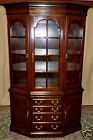 HARDEN CHERRY CHINA CABINET Cherry Lighted Hutch Glass Shelves VINTAGE