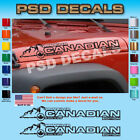 Jeep WRANGLER Canadian Mountain Hood Decal Stickers 1 Pair SH 138