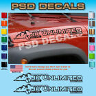 Jeep WRANGLER JK Unlimited Mountain Hood Decal Stickers 1 Pair SH 137