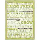 Farmers Market Word Collage Metal Sign Country Kitchen Decor 12 x 16