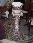 Capodimonte Jardiniere with Matching Pedestal Ceramic Made in Italy
