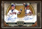 CHIPPER JONES TOM GLAVINE GOLD DUAL AUTO 25 TOPPS TIER ONE 2015 HOF'S ? RARE