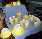 42 Pieces Fitz and Floyd yellow Rondelet dinner ware