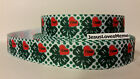 Grosgrain Ribbon 4 H with I Love Red Heart as one Clover Leaf  7 8 Width