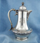 Co. Solid Sterling Silver Chocolate Serving Pot, 594.2G  w/Monogram