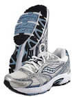SAUCONY Womens Grid Cohesion 4 White Silver Blue Multi SZ NWOB MSRP 70