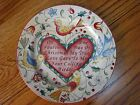 """222 Fifth 12 Days of Christmas 4th Fourth Day Salad Dessert Plate 8"""" MINT"""