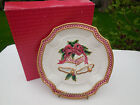 """Fitz and Floyd Essentials Holiday Bells Christmas Cookie / Canape Plate 8"""""""