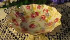 Royal Standard Vintage Candy Nut Dish Roses with Yellow Blue Floral Pattern