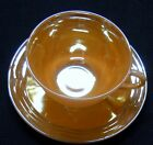 Fire King Carnival Glass Coffee Cup and Saucer Set  5 1/2
