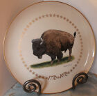 AMERICAN BISON/BUFFALO PLATE BY CHARLES FRACE AMERICAN BICENTENNIAL WILDLIFE