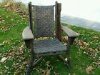 Vintage Signed Old Hickory Large Rare Wing-back Arm Chair Martinsville IN