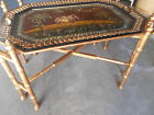 Exceptional French Faux Bamboo salver butler tray Table ELEPHANT