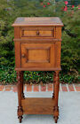 Antique French Oak Side Cabinet Nightstand Lamp End Table Pegged Construction