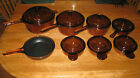 15 PC.AMBER COLOR  VISION CORNING WARE U.S.A VERY GOOD USED CONDITION