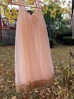 HEAVENLY 2 Layer Sheer Pink Chiffon Negligee w/Ecru Lace Sweep-46