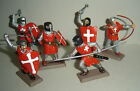 on foot RED KNIGHTS Argentina DSG Medieval Plastic Toy Soldiers set Britains