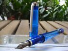RARE DiscontinuedTWSBI Vac 700 Sapphire Blue Fountain Pen SEALED3 nibs size