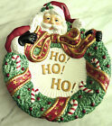 FITZ & FLOYD ESSENTIAL HO HO HO  SANTA HOLIDAY SOLSTICE SERVING PLATTER  9 1/2