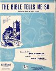 DALE EVANS (ROY ROGERS) - THE BIBLE TELLS ME SO - VINTAGE SHEET MUSIC 1955