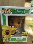 Funko POP FLOCKED Simba - DISNEY LION KING - Hot Topic Exclusive #85