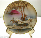 VTG 1920S  HAND PAINTED NIPPON GOLD ETCHED BAMBOO DESIGN SAUCER MADE IN JAP