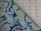 PAISLEY TWIN QUILT SET Blue Aqua Gray Teal FLORAL STRIPED Turquoise NAUTICA NEW!