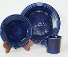 Fiesta 3 piece Setting COBALT BLUE Dinner Plate, Salad Plate, & Mug