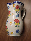 Majolica Ceramic Pitcher Signed Italy- Old Italian Glazed Pottery Collectible