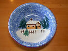 Living Quarter HOLIDAY MOUNTAIN LODGE Set of 8 Soup Cereal Bowls 8 in Blue