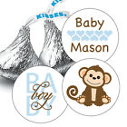 108 Baby Boy Monkey Baby Shower Hershey Kiss Stickers Party Favors Decoration