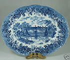 ANTIQUE STYLE ROMANTIC ENGLAND BLUE/WHITE MEAKIN SERVING TRAY KENT IRONSTONE