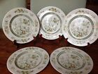 SET OF 5 ROYAL DOULTON TONKIN SALAD / DESSERT PLATES INDIAN TREE DESIGN 8.0