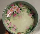 Out Floral ROSES FOOTED BOWL Signd BRIGGS