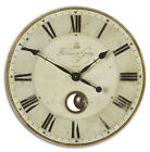 Harrison Wall Clock Gray 30 Round Gallery Pendulum French Country New