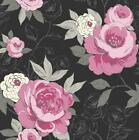 ARTHOUSE OPERA LUXURY CASSI HAND PAINTED FLORAL FLOWER BLOOM WALLPAPER ROLL BL-P