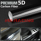3d 4d 5d 7d Premium Matte Gloss Semi Black Carbon Fiber Vinyl Wrap Sticker