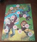 RARE Vintage ANIMALS Tin Litho Target Game - tiger-elephant-gorilla-cheetah