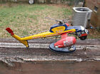 1950s ALPS JAPAN SIKORSKY TIN LITHO HELICOPTER W/STAND